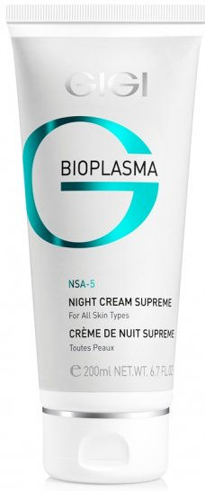 GIGI Bioplasma Night Cream Supreme 200ml 6.7fl.oz